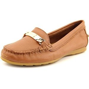 Coach Round Toe Leather Loafers - size 38